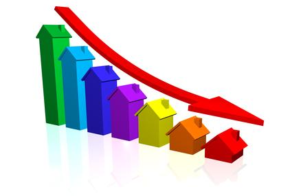 Cena nehnuteľností klesla